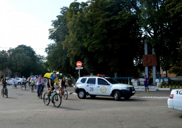 Охрана велопробега в г. Березань
